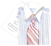 Product Image For Shirt and Tie Die-Cut invitation