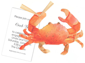 Product Image For Crab Die-cut Invitation