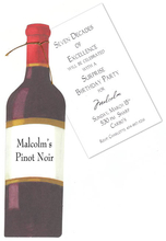 Product Image For Red Wine Bottle Die Cut Invitation