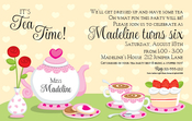 Product Image For Tea Party Time Invitation