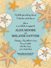 Product Image For Sand Dollars and Starfish Digital Invitation