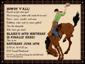 Product Image For Rodeo Cowboy Digital Invitation