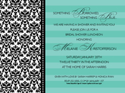 Product Image For Turquoise and Damask Invitation