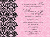 Product Image For Pink Damask Invitation