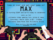 Product Image For Video Game Party Invitation