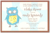 Product Image For Owl Boy Invitation