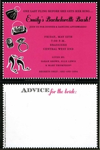 Product Image For Bachelorette Advice Invitation