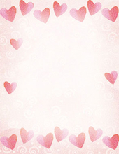 Product Image For Red Hearts Letterhead
