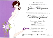 Product Image For Orchid Bride Invitation