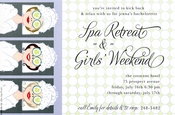 Product Image For Spa Girls Invitation