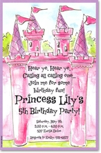 Product Image For Pink Castle Invitation