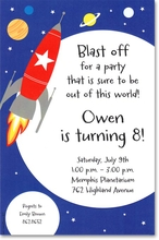Product Image For Space Rocket Invitation