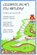 Product Image For Mini Golf Invitation