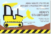 Product Image For Bulldozer Invitation