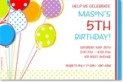 Product Image For Bright Balloons Invitation