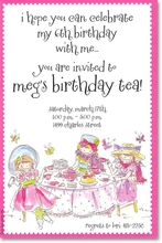 Product Image For Girly Tea Invitation