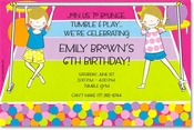Product Image For Girl Tumble Invitation