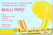 Product Image For <em>Beach</em> Umbrella Invitation
