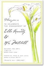Product Image For Calla Lilies Invitation
