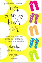 Product Image For Fun Flops Invitation