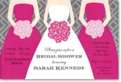 Product Image For Pink Bouquets Invitation
