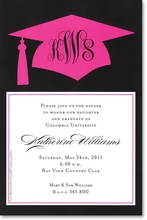 Product Image For Pink Grad Invitation