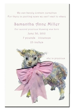 Product Image For Baaaa Invitation Pink