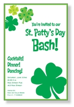 Product Image For St. Patty Flair Invitation
