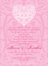 Product Image For Filigree Heart Pink Invitation