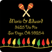 Product Image For Cinco de Mayo Maracas Address Label