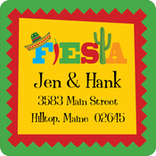 Product Image For Fiesta Square Address Label