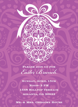 Product Image For Filigree Egg Lavender Invitation