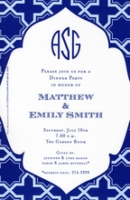 Product Image For Dignified Blue Invitation
