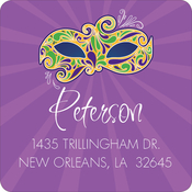 Product Image For Mardi Gras Mask Label