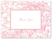 Product Image For Toile Pink Note card
