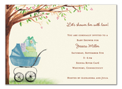 Product Image For Beautiful Bassinet Boy Invitation