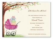 Product Image For Beautiful Bassinet Girl Invitation