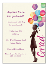 Product Image For Beautiful Balloons Grad Invitation