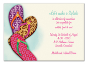 Product Image For Fashionable Flip Flops Invitation