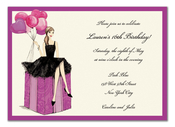 Product Image For Fashionable Party Girl Invitation