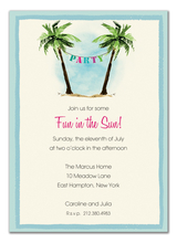 Product Image For Palm Tree Party Banner Invitation