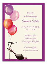 Product Image For Stylish Party Balloons Invitations (WHITE)