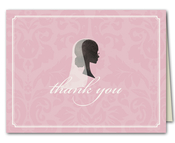Product Image For Beautiful Bride Silhouette Thank You