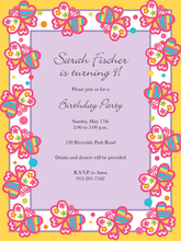 Product Image For Brilliant Butterflies Invitation