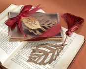 Product Image For Turning Leaves Book Mark with Burgundy Tassel