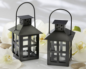 Product Image For Luminous Black Mini-Lantern Tea Light Holder