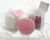 Product Image For Rose Ball Candle in Gift Box with Matching Bow
