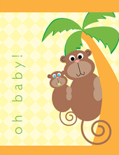 Product Image For Baby Monkey Note Card