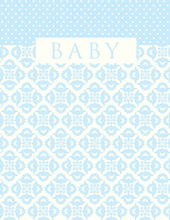 Product Image For Baby Blue Brocade Note Card