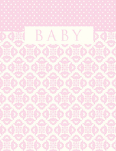 Product Image For Baby Pink Brocade Note Card